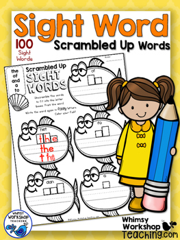 100 Sight Words Scramble Printables - Whimsy Workshop Teaching