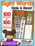 100 Sight Words and 100 Sentences Slide and Read - Whimsy