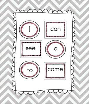 100 Sight Words for your Word Wall