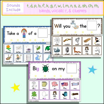 100 Silly Sentence Strips w/Data:  Made for Mixed Articulation Groups!