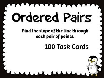 100 Find the Slope of a Line {Task Cards}