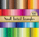 100 Small Tinted Triangle Party Confetti Digital Papers