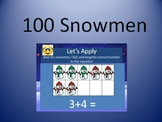 100 Snowmen Google Slides Lesson