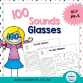 100 Sound Glasses: Articulation Craftivity for 100th Day o