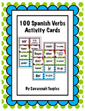 100 Spanish Verbs Activity Cards
