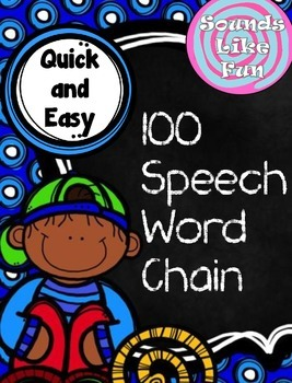 FREEBIE! 100 Speech Word Chain for Articulation Practice