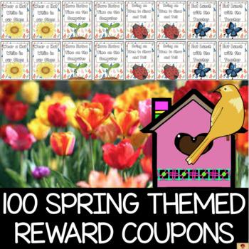 100 Spring Themed Reward Coupons