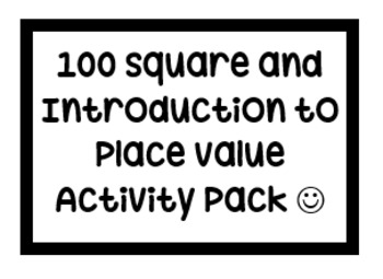 100 Square and Place Value Activity Pack