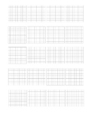100 Square grids for modeling