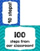 100 Steps- 100th day of School activity