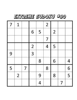 100 Sudoku Puzzles