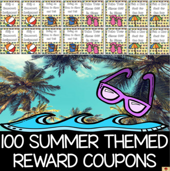 100 Summer Themed Reward Coupons