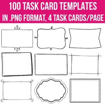 Task Card Templates EDITABLE 100
