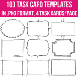 Task Card Templates EDITABLE 100