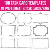 Task Card Templates EDITABLE 100 #missedthesale