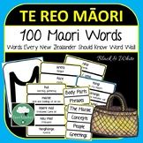 100 Te Reo Maori Words Every New Zealander Should Know Vocabulary Word Wall