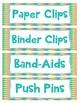 Back to School 100 Teacher Classroom Supply Labels