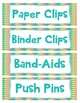 Back to School 100 Teacher Supply Labels  and 14 Hall Passes BUNDLE!