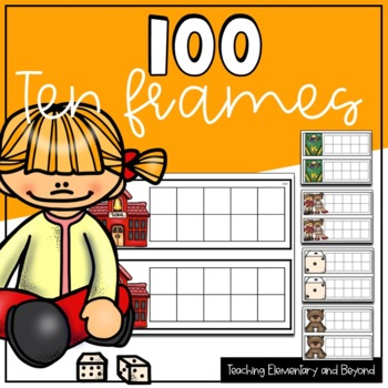 100 Ten Frames/ 10 Frames for Math Centers and Activities