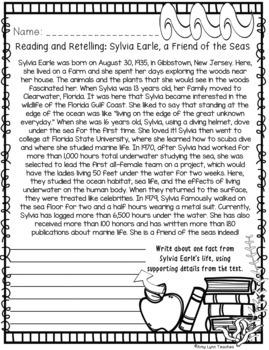 100 Third Grade Ocean Theme No Prep Language, Reading, Writing, & Math Work