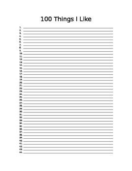 100 Things I Like