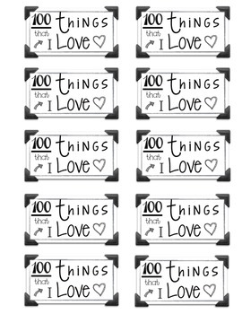100 Things I Love Tag