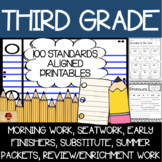 100 Third Grade No Prep Language, Reading, Writing, & Math Anytime Printables