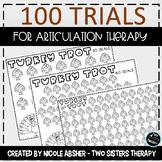 100 Trials Articulation Turkey Trot