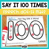 100 Trials Articulation Worksheets