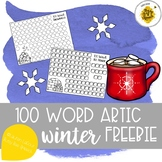 100 Trials Winter for Speech Therapy FREE