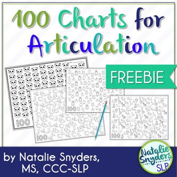 100 Trials for Articulation - Freebie for Speech Therapy