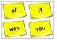 100 Common Words on Post-Its