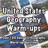 United States Geography Warm-ups