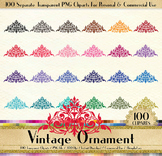 100 Vintage Ornament Clip Arts Antique Wedding Ornament