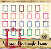 100 Vintage Rectangle Frame Antique Royal Victorian Frame