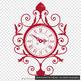 100 Vintage Wall Clock Clip Arts, European Decor Clip Arts