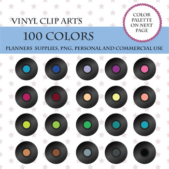 100 Vinyl clipart, Music Record Clipart, Black Vinyl Record, Music Arts