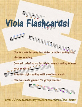 60 Viola Flashcards - FULL COLOR!!!