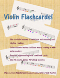 60 Violin Flashcards - FULL COLOR!!!