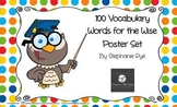 100 Vocabulary Words for the Wise Mini Posters