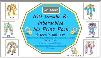 100 Vocalic Rs Print and No Print Bundle