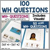 WH Questions with Visuals   Bundle of Set #1 + Set #2   Sp