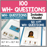 100 WH Question Cards with Visuals - Bundle of Set #1 + Set #2