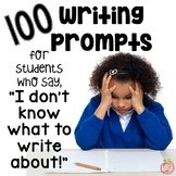 100 WRITING PROMPT LABELS: An Instant Writing Station