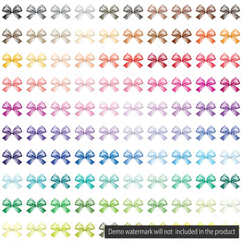 100 Watercolor Bows Clip Arts Fashion Clip art Princess Bows