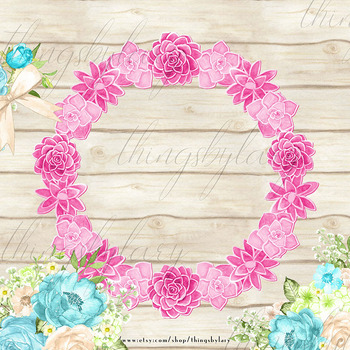 100 Watercolor Flower Wreath Clip Arts Botanical Wreaths