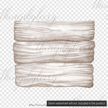 100 Watercolor Wooden Board Clip Arts Wooden Shabby Chic