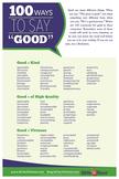 "100 Ways to Say ""Good"" Poster"