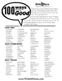 """100 Ways to Say """"Good"""" Printable"""