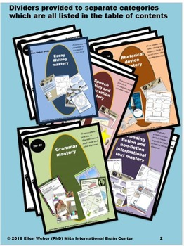 100 Whole Brain Graphics CCSS Designed - Gr. 7 to 12+